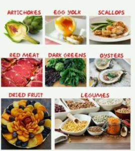 makanan zat besi 2